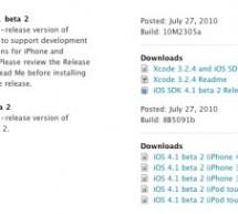 إصدار iOS 4.1 Beta 2 للمطورين