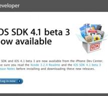 إصدار iOS 4.1 Beta 3 للمطورين