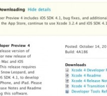 الإصدار الرابع من Xcode4 للمطورين
