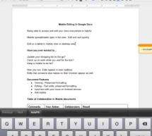 Google Docs سطح المكتب يدعم تعديل المستندات من آي باد