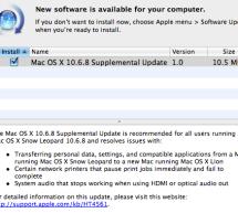 أبل تصدر تحديث تكميلي لـ ماك 10.6.8 سنو ليوبارد