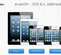 إصدار جيلبريك Evasi0n للآيفون 5 و الآيباد ميني و iOS 6