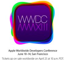 المؤتمر الإفتتاحي لـ WWDC في العاشر من يونيو