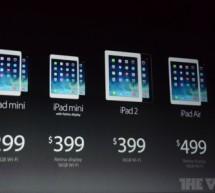 أبل تعلن عن iPad Air و آيباد ميني بشاشة ريتنا