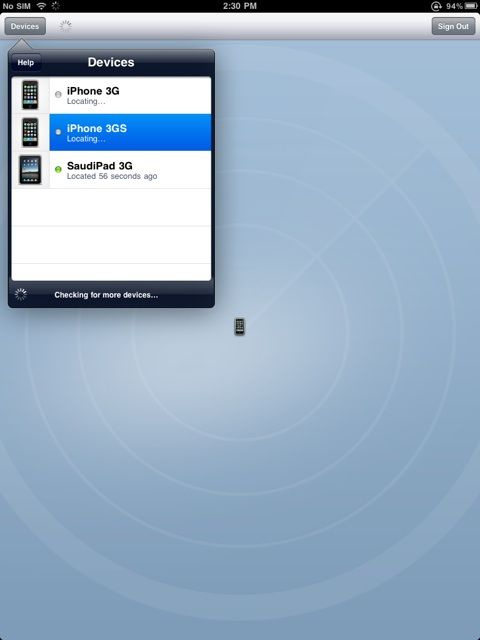 how to use find my iphone on ipad