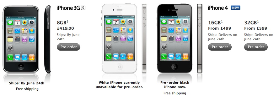 iphone 4 from uk france is officially unlocked saudimac. Black Bedroom Furniture Sets. Home Design Ideas
