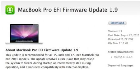 mac pro efi firmware update 3.1 ownload