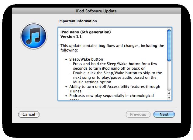 apple updates 6th gen ipod nano