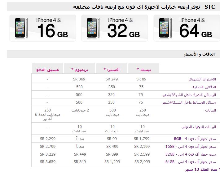 Mobily IPhone 4S Prices