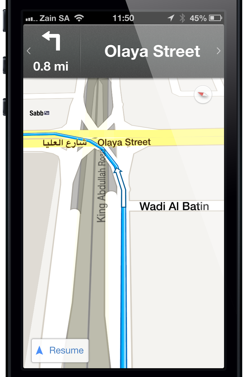 how to use google maps on iphone 5