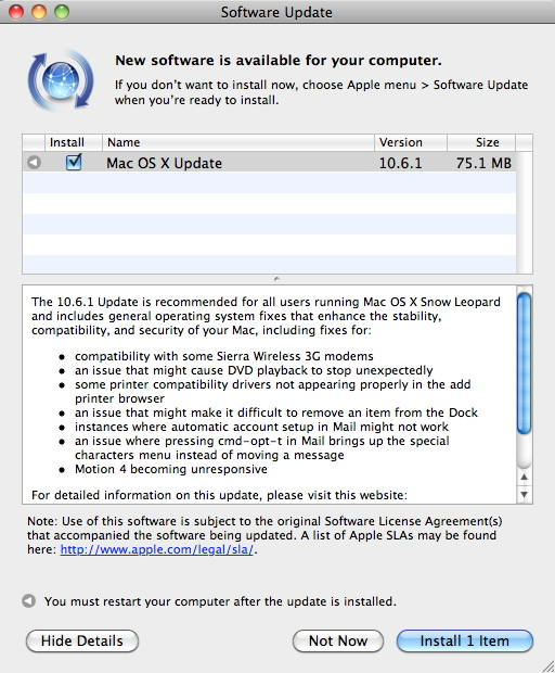 how to run software update on mac