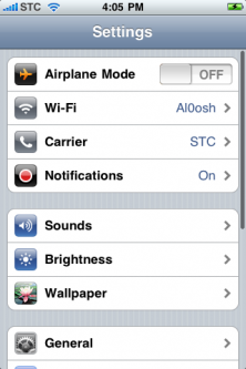 iPhone Settings 1