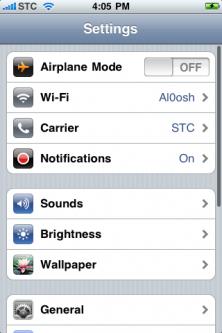 iPhone Settings 1