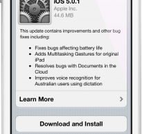 iOS 5.0.1 Update Addresses Battery Life Issues