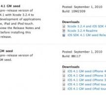 النسخة الذهبية من نظام تشغيل iOS 4.1 و حزمة تطوير برامج الآيفون و الآيبود توتش