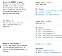 أبل تُطلق البيتا الثانية من iOS 4.3 للمطورين