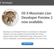 أبل تصدر النسخة التجريبية الثانية من OS X Mountain Lion للمطورين
