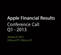 أبل تحدد تاريخ إعلان النتائج المالية للرُبع الأول من 2013
